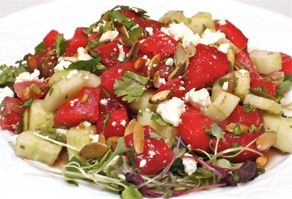 Spicy Grilled Watermelon and Cucumber Salad - The Hopeless Housewife ...