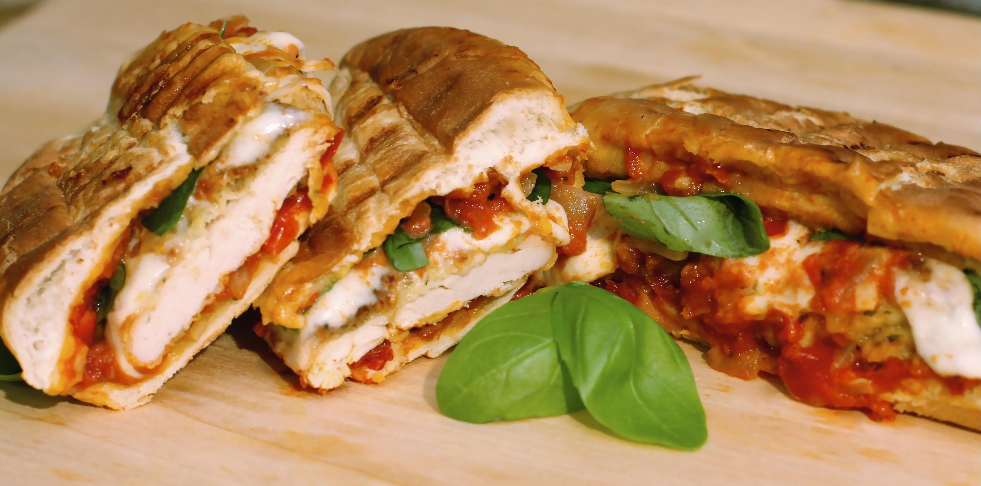 Homerun Hoagie Grilled Chicken Parmesan Sandwich - The Hopeless ...