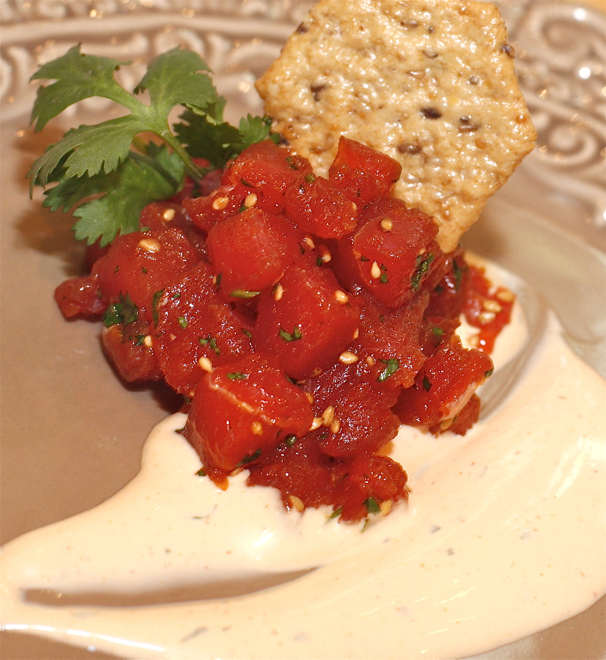Tuna poke on Pinterest
