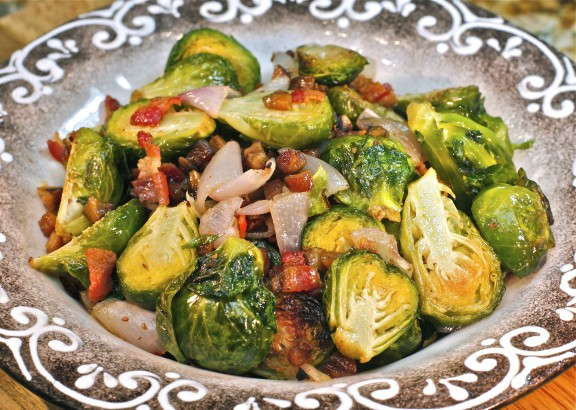 Pan-Roasted Brussels Sprouts and Chestnuts, Bacon and ...