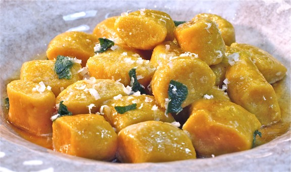 Pumpkin Gnocchi with Brown Sage Butter