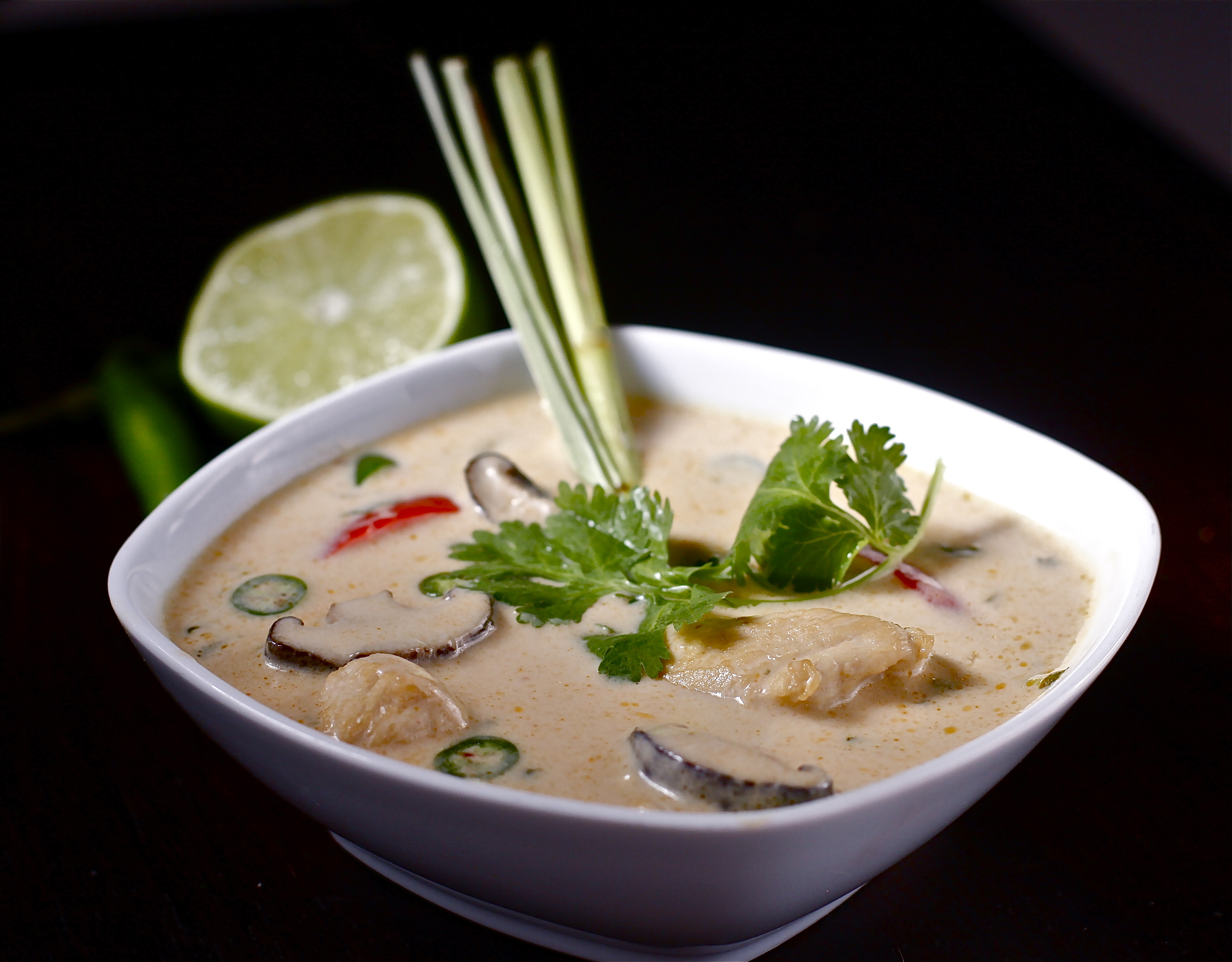 thai chicken coconut soup tom has a chicken soup recipe thai coconut ...