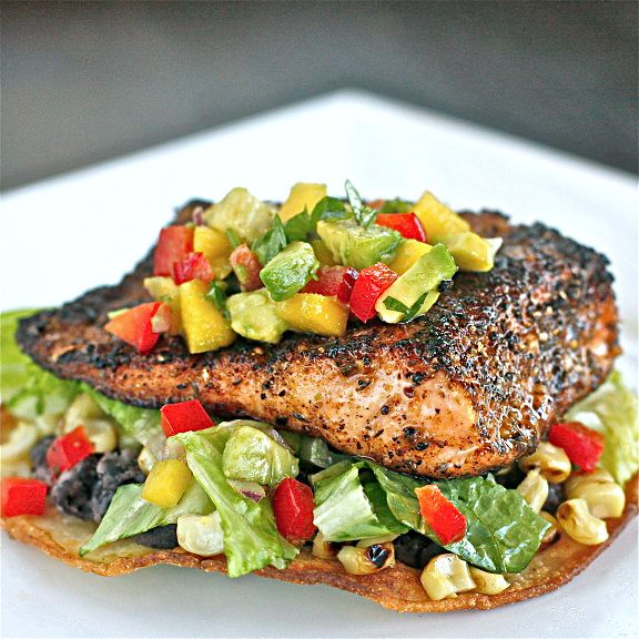 Chili-Rubbed Salmon with Mango Avocado Salsa 2 | The Hopeless Housewife