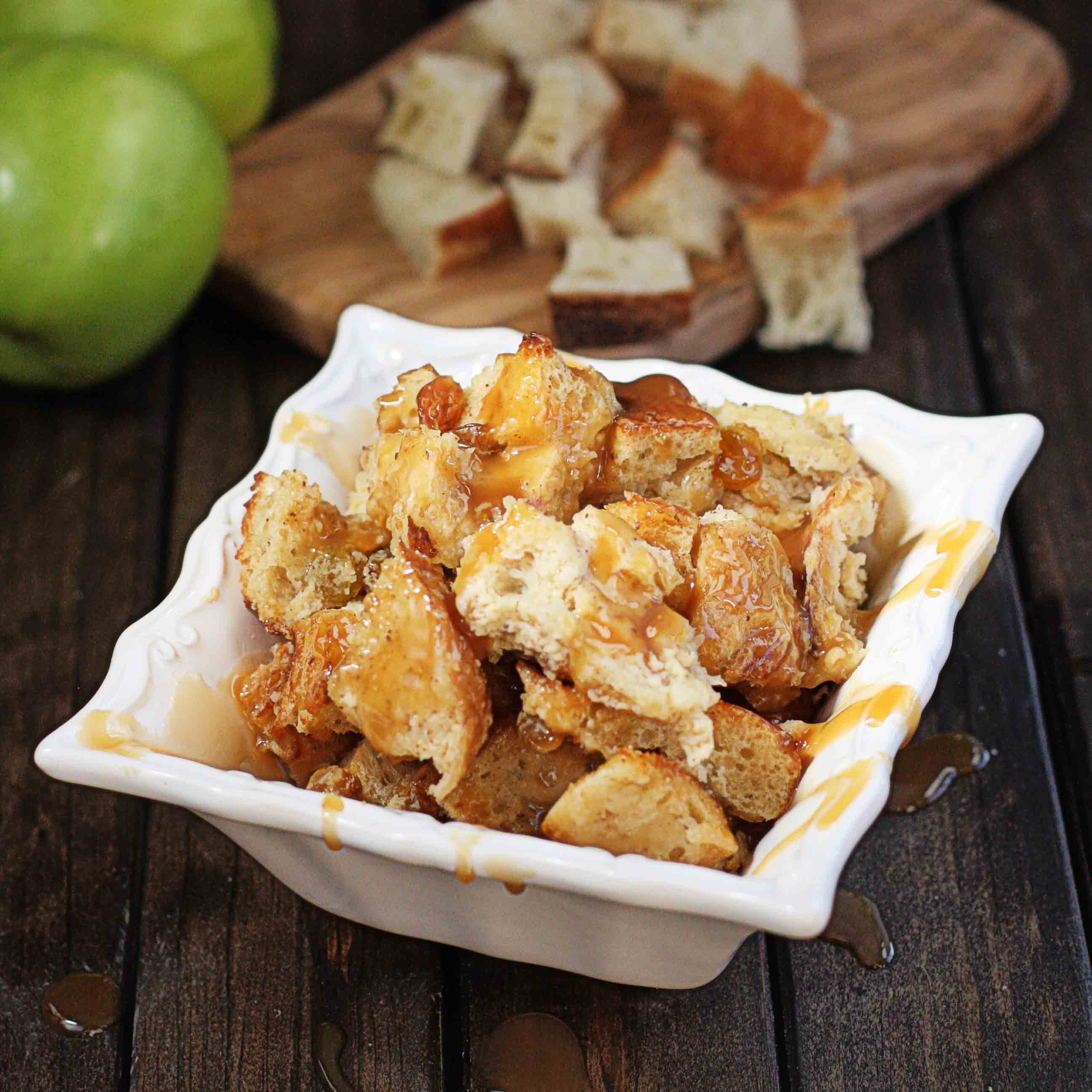 Boozy Desserts: Rum and Caramel Apple Bread Pudding - The Hopeless ...