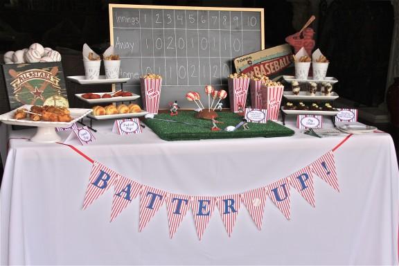 Baseball Party Table 33