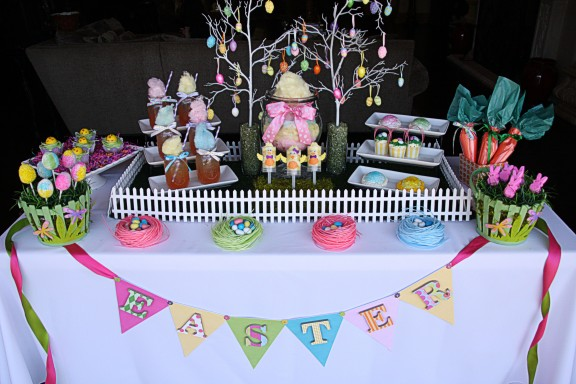 Easter Sweets Table The Hopeless Housewife