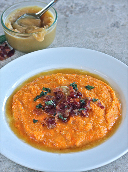 Sweet Potato Grits with Maple Butter and Bacon | The Hopeless Housewife