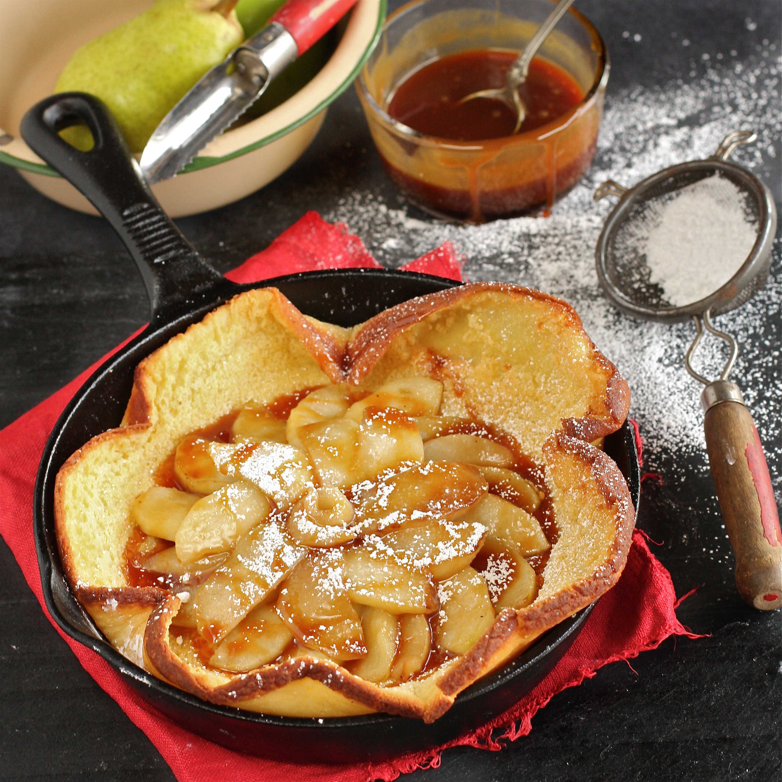 ... gouda dutch dutch baby pancake with pears pear apple some leeks and