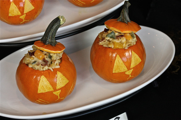 Squash Risotto Jack O'Lanterns The Hopeless Housewife