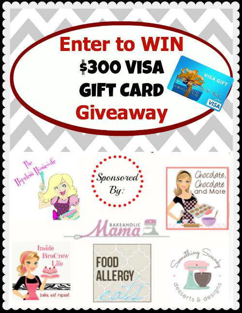 $300 Visa Gift Card Giveaway Ends 11/4