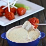 Bufflao Chicken Lollipops with Blue Cheese Fondue | The Hopeless Housewife