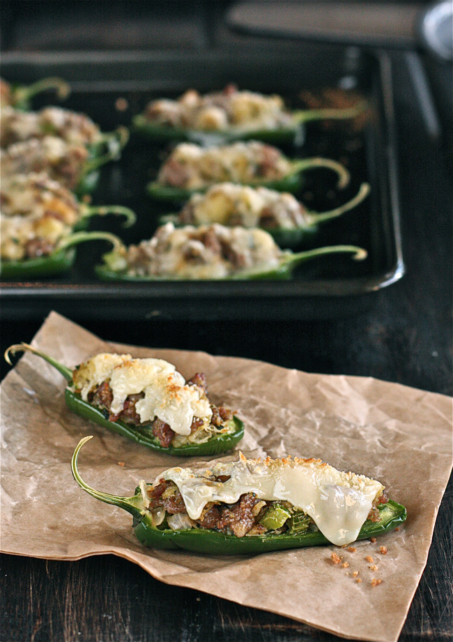 Sausage Stuffing-Stuffed Jalapeños | The Hopeless Housewife
