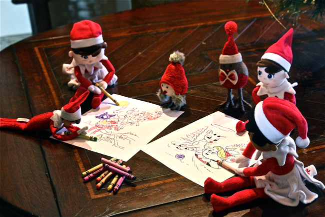 Elf on The Shelf Coloring | The Hopeless Housewife