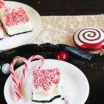 Peppermint Bark No-Bake Marshmallow Cheesecake Bars | The Hopeless Housewife