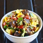 Thai Peanut Steak Salad with Mango | The Hopeless Housewife