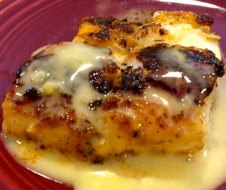 Blackened Sea Bass with Orange Beurre Blanc