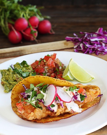Authentic Fish Tacos w/Lime Herb Mayo | The Hopeless Housewife