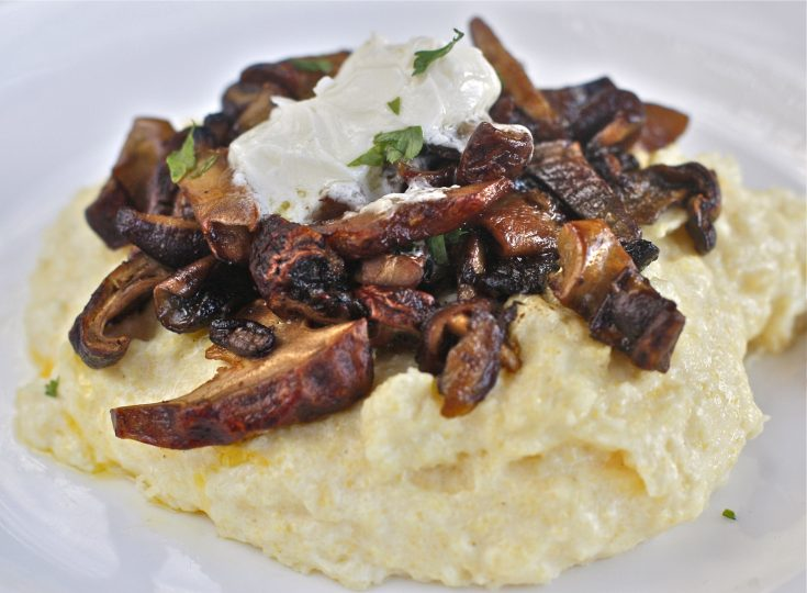 Creamy Polenta with Wild Mushrooms and Mascarpone