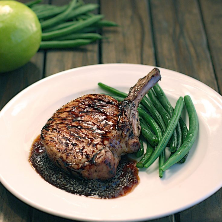 Maple Apple Glazed Pork Chops