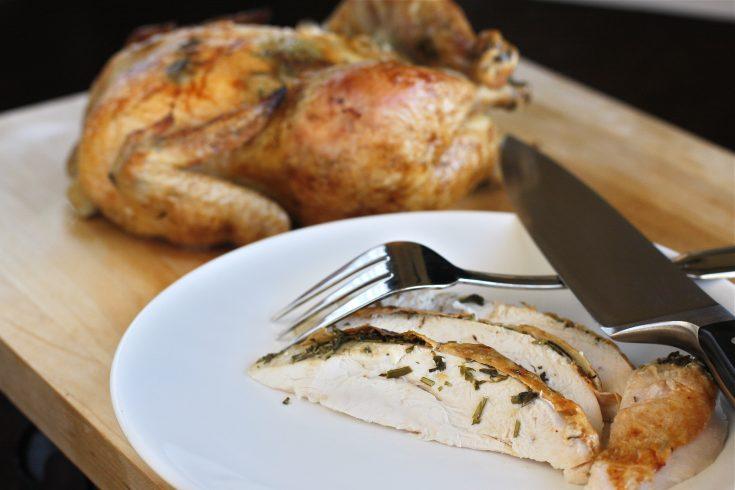 Moist Herb Roasted Chicken