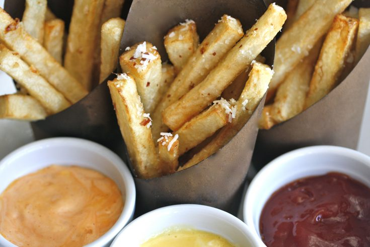 Trio of Ballpark Fries and Dipping Sauces