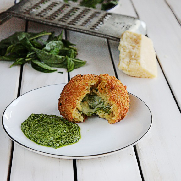 Chicken Pesto Arancini