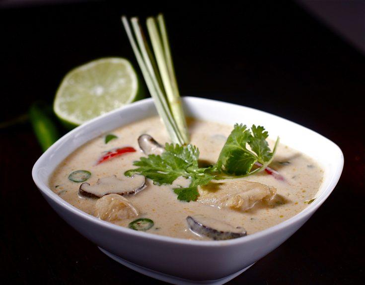 Thai Coconut and Velvet Chicken Soup