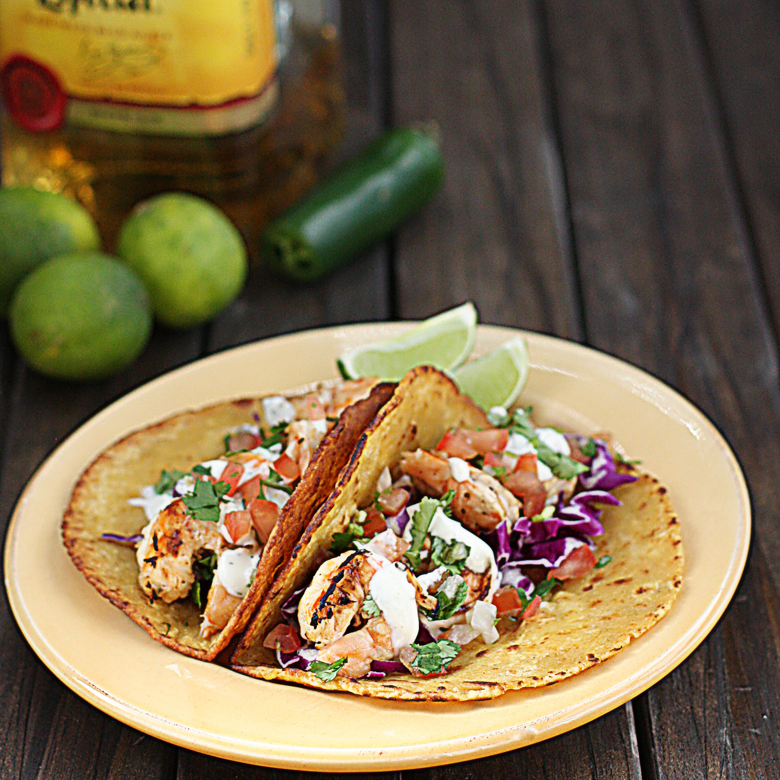 Tequila Lime Grilled Shrimp Tacos The Hopeless Housewife The