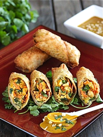 Thai Peanut and Chicken Egg Rolls | The Hopeless Housewife
