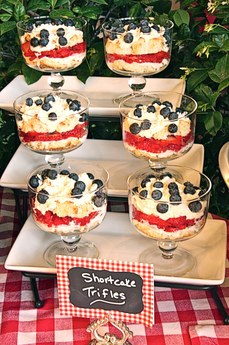 Balsamic Strawberry Shortcake Trifles with Basil-Infused Whipped Cream