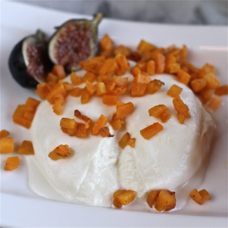 Burrata with Pan-Roasted Butternut Squash and Figs