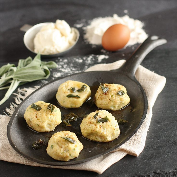 Ricotta Gnudi with Sage Brown Butter