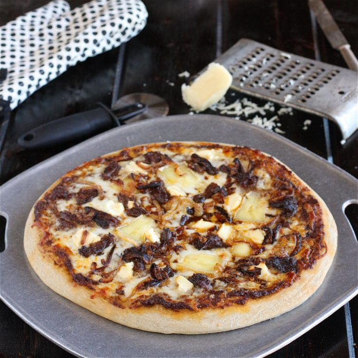 Short Rib, Brie and Ricotta Pizza with Caramelized Onions