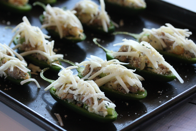 Sausage Stuffing Stuffed Jalapeños 5 | The Hopeless Housewife