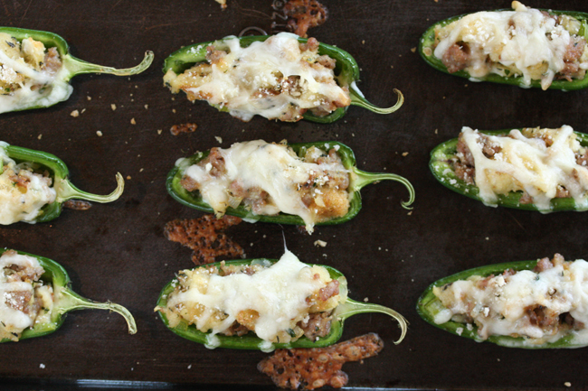 Sausage Stuffing Stuffed Jalapeños 7 | The Hopeless Housewife