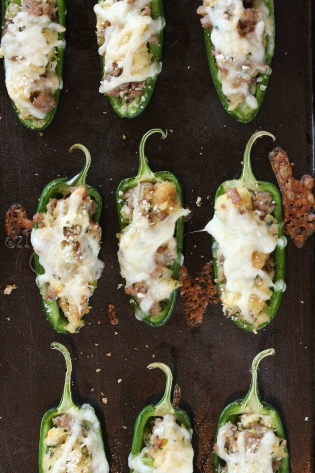 Sausage Stuffing Stuffed Jalapeños 8 | The Hopeless Housewife