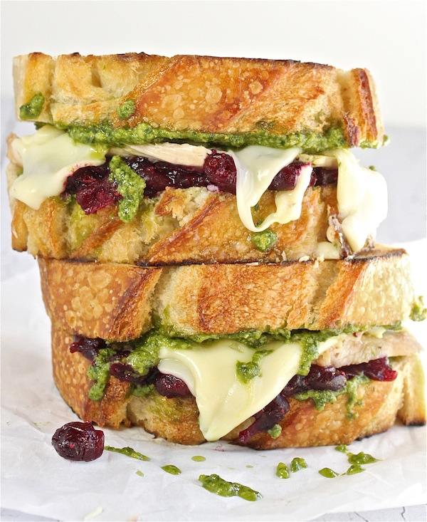 Turkey, Pesto and Cranberry Melt | The Hopeless Housewife