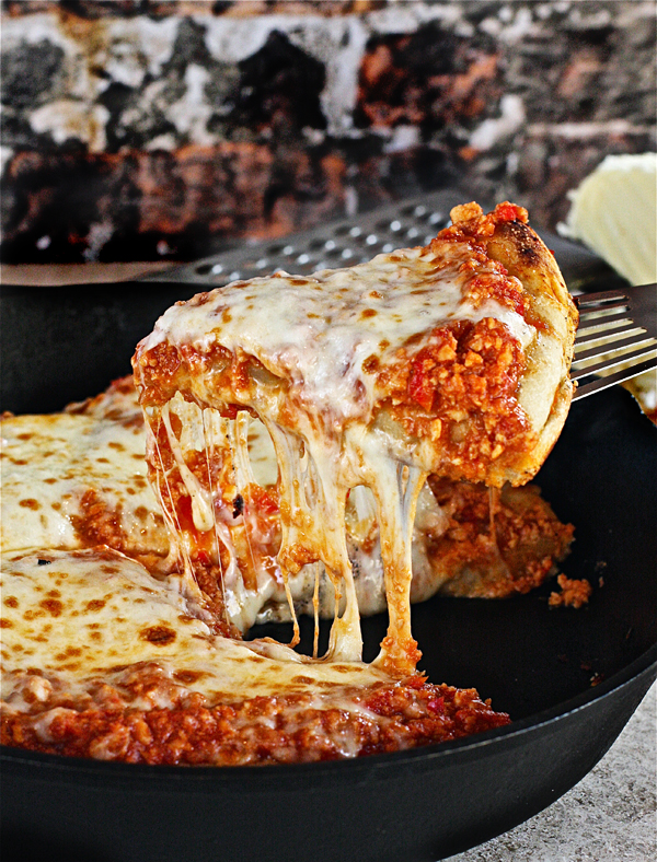 Turkey Sloppy Joe Skillet Pizza