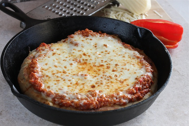 Turkey Sloppy Joe Skillet Pizza 5   The Hopeless Housewife®