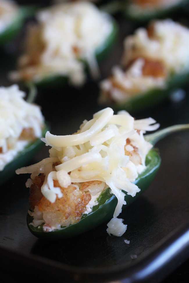 Bacon Jalapeño Poppers with a Cheesy Tater Tot Crust 5 | The Hopeless Housewife
