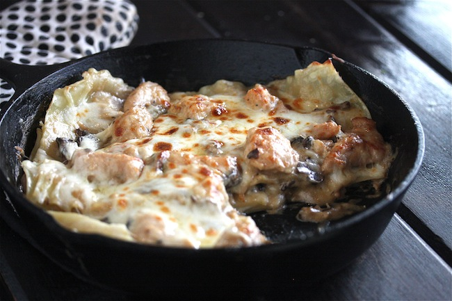 Chicken Stroganoff Skillet Lasagna +$435 Le Creuset Package Giveaway 3 | The Hopeless Housewife