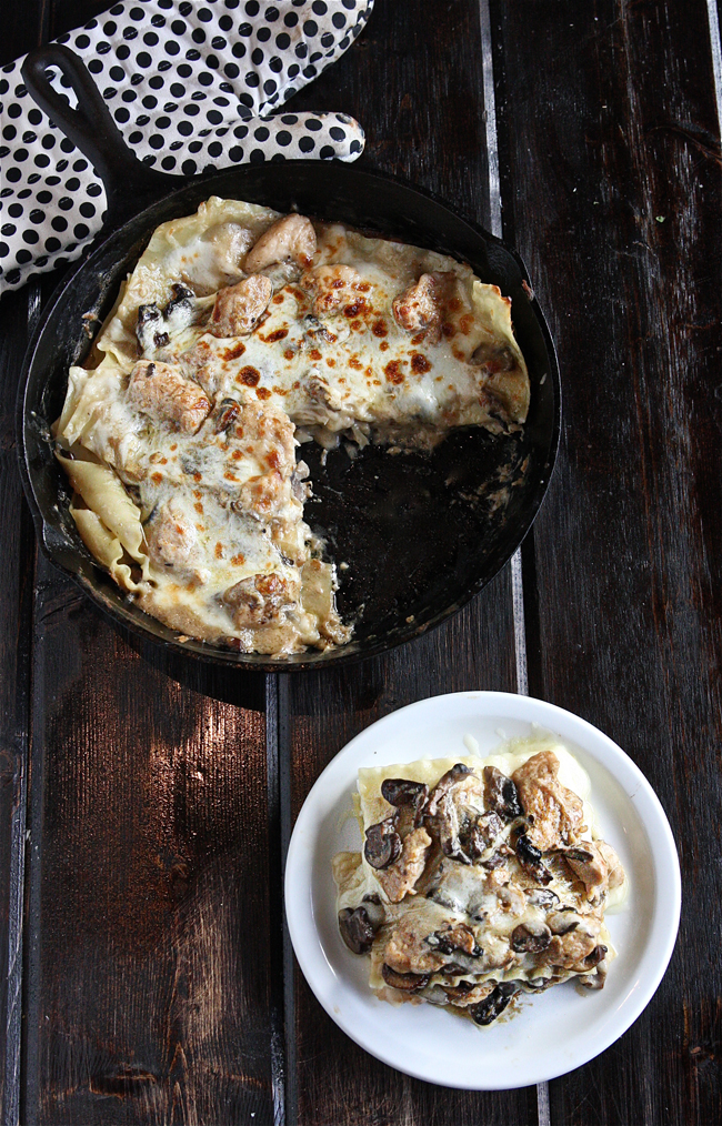 Chicken Stroganoff Skillet Lasagna +$435 Le Creuset Package Giveaway 4 | The Hopeless Housewife