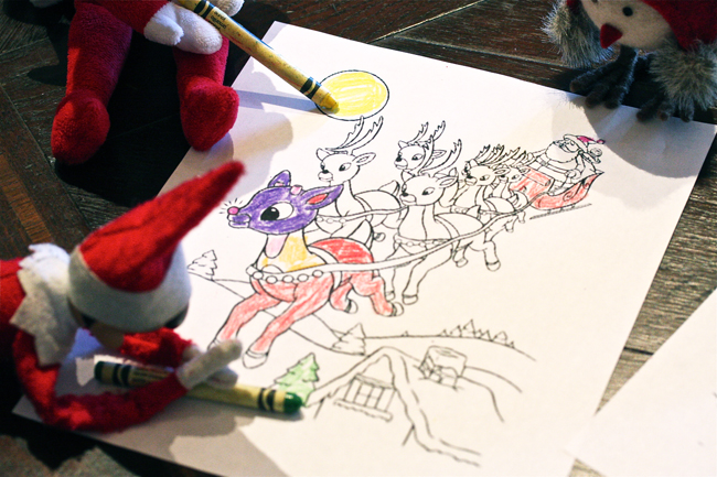 Elf on the Shelf Coloring 2 | The Hopeless Housewife