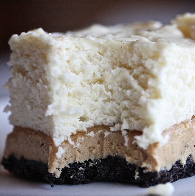 Peanut Butter No-Bake Marshmallow Cheesecake Bars | The Hopeless Housewife